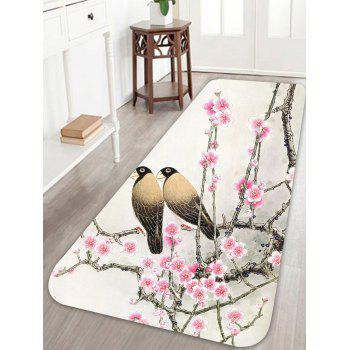 Floral Bird Print Skidproof Area Rug - COLORFUL W24 INCH * L71 INCH