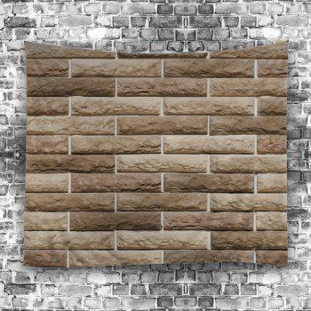 Wall Hanging Art Ceramic Tile Print Tapestry - LIGHT BROWN W79 INCH * L59 INCH