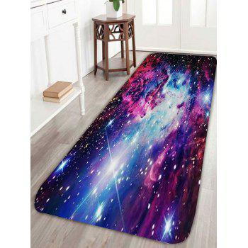 Nonslip Outer Space Star Print Rug - BLUE W24 INCH * L71 INCH