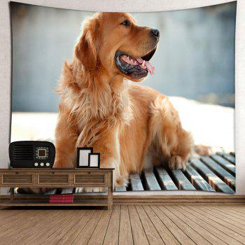 Wall Hanging Golden Retriever Pattern Tapestry - W79 INCH * L59 INCH W79 INCH * L59 INCH