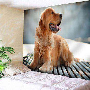 Wall Hanging Golden Retriever Pattern Tapestry - LIGHT BROWN W79 INCH * L59 INCH