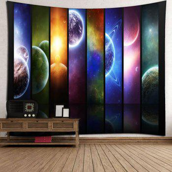 Microfiber Wall Hanging Planet Pattern Tapestry - STARRY SKY PATTERN W79 INCH * L59 INCH