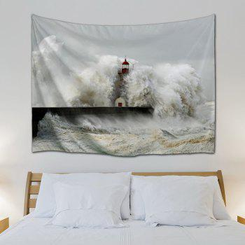 Billowy Wave Wall Hanging Bedroom Decor Tapestry - GRAY W59 INCH * L79 INCH