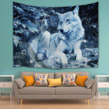 Wolf Animal Wall Art Decoration Throw Tapestry - MIDNIGHT W59 INCH * L79 INCH