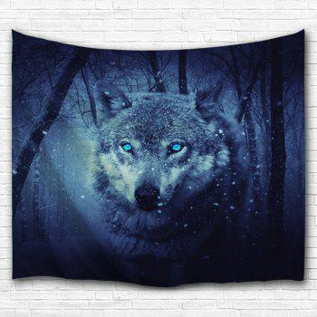 Wall Decoration Snow Wolf Tapestry For Bedroom - DEEP BLUE DEEP BLUE