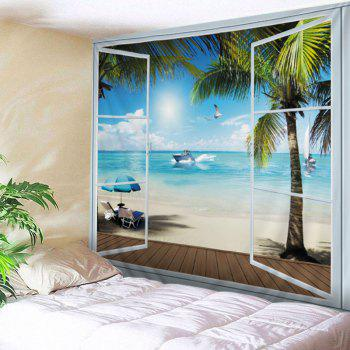 Wall Hanging Art Belcony Beach Print Tapestry