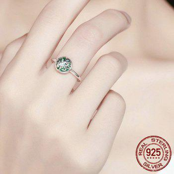 Sterling Silver Tree of Life Heart Ring - 7 7