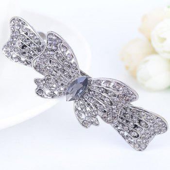 Rhinestone Inlay Bowknot Shape Barrette
