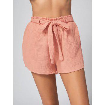 Poches Shorts à ceinture - Orange Rose M