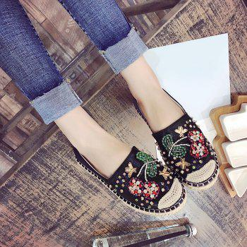 Espadrilles Fancy Coloured Diamond Flat Shoes