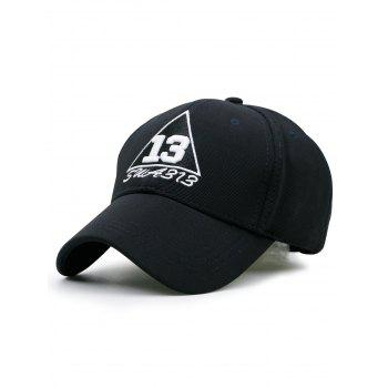 Numbers Trangle Embellished Baseball Cap