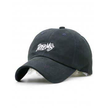Plain Letters Embroidered Baseball Cap