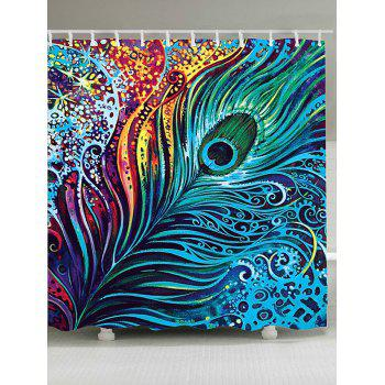 Dazzling Peacock Feather Eco-Friendly Shower Curtain