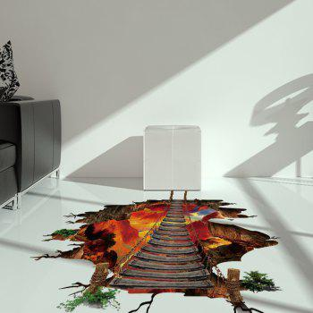 Volcano Chain Bridge Vinyl 3D Floor Sticker - 60*90CM 60*90CM