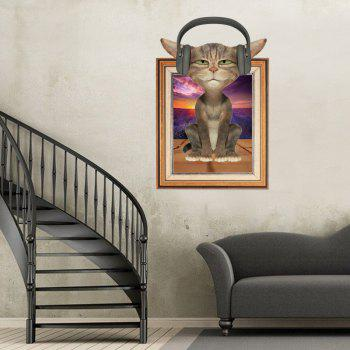 Photo Frame 3D Cat Animal Wall Sticker For Kids