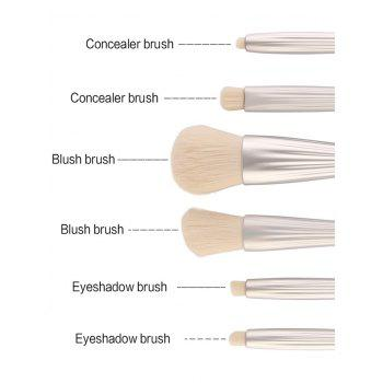 6Pcs Shell Design Plating Facial Makeup Brushes Kit - Argent