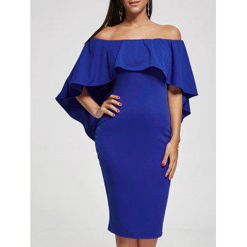 Bodycon Off The Shoulder Capelet Dress