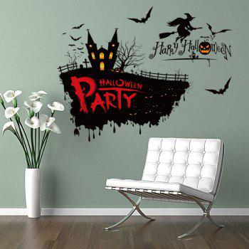 Halloween Party Decor Removable Wall Sticker - BLACK 50*70CM