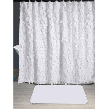 2018 Waterproof Leaf Fringed Shower Curtain WHITE W INCH L In Curtains Online Store Best Fabric For Sale