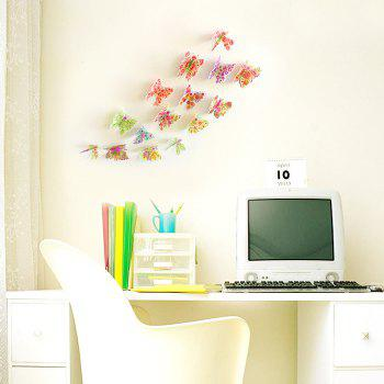 Pastoral Butterfly Bedroom 3D Wall Sticker Set - COLORMIX COLORMIX