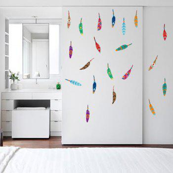 Colorful Feather Wall Sticker For Kids Room