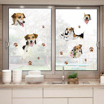 Puppy Dog Vinyl Window Door Wall Sticker