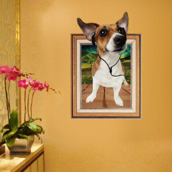 Photo Frame 3D Dog Wall Sticker For Kids Room - BROWN 60*90CM