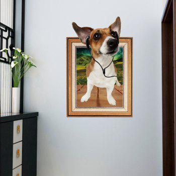 Photo Frame 3D Dog Wall Sticker For Kids Room