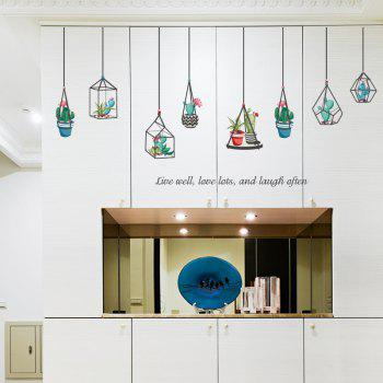 Hanging Plants Vinyl Wall Sticker For Bedroom - COLORMIX 60*90CM
