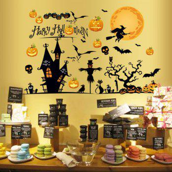 Halloween Decoration Removable Wall Sticker - COLORMIX COLORMIX