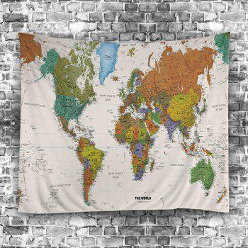 Wall Hanging Art World Map Print Tapestry - W79 INCH * L71 INCH W79 INCH * L71 INCH