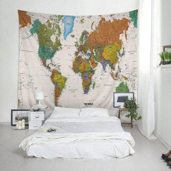 Wall Hanging Art World Map Print Tapestry - COLORMIX COLORMIX