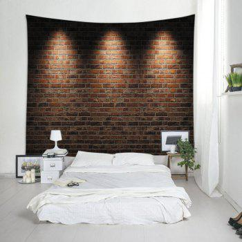 Wall Hanging Art Light Brick Wall Print Tapestry - BRICK RED W79 INCH * L71 INCH