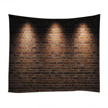 Wall Hanging Art Light Brick Wall Print Tapestry - BRICK RED W91 INCH * L71 INCH
