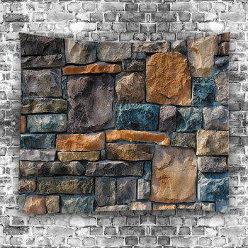 Wall Hangings Art Decor Stone Brick Wall Print Tapestry - COLORMIX COLORMIX