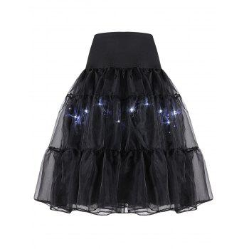 Flounce Light Up Cosplay Skirt - M M