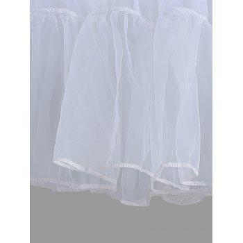 Flounce Light Up Cosplay Skirt - LIGHT GRAY L