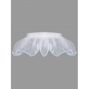 Mesh Ballet Light Up Cosplay Party Skirt - WHITE ONE SIZE