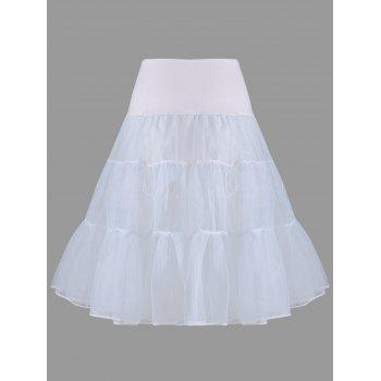 Flounce Light Up Cosplay Skirt - LIGHT GRAY LIGHT GRAY