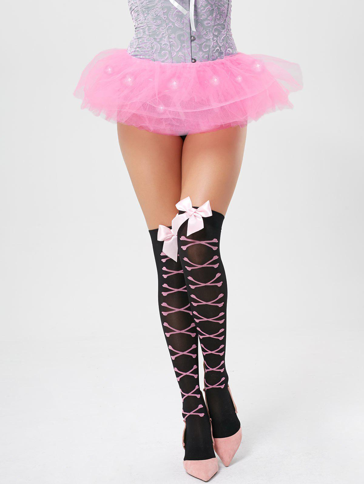Tier Mesh Light Up Ballet Cosplay Jupe - Rose Léger ONE SIZE