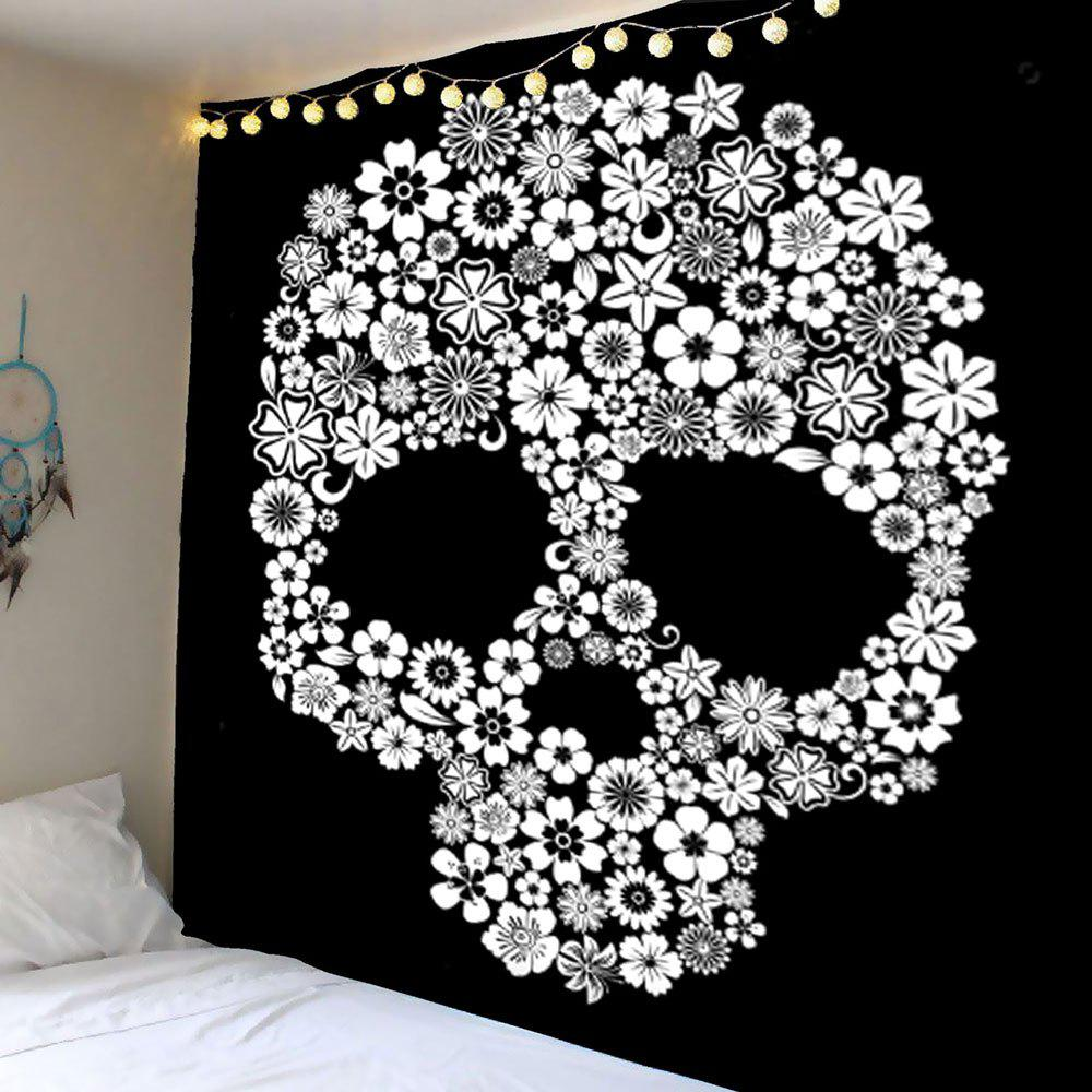 Flower Skull Wall Hanging Tapestry skull brains fist wall hanging tapestry