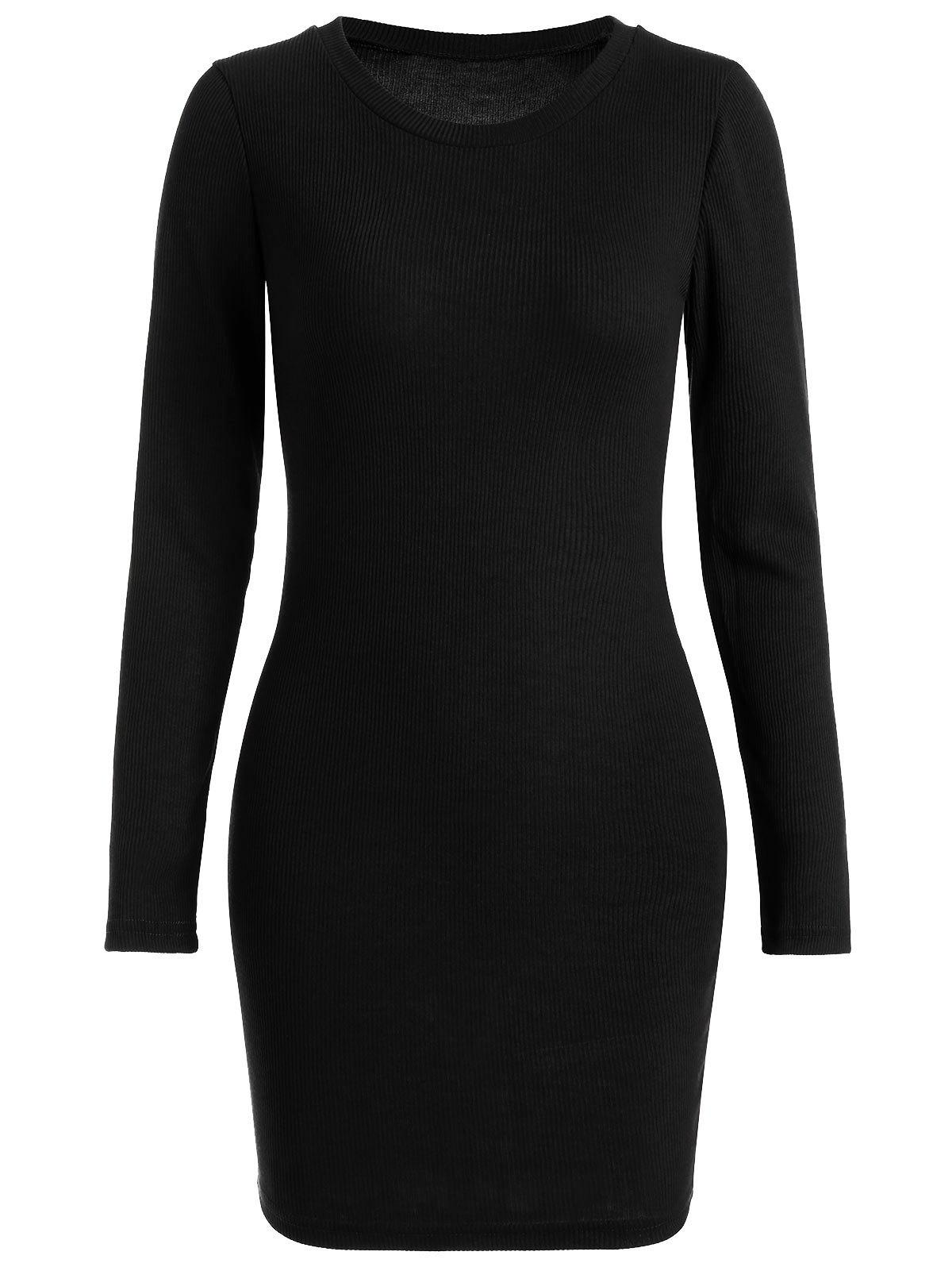 Ribbed Mini Bodycon Knitted Dress 219025205