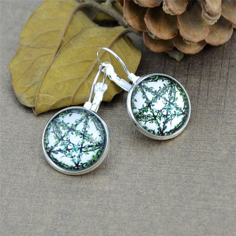 Leaf Five Pointed Star Round Clip On Earrings
