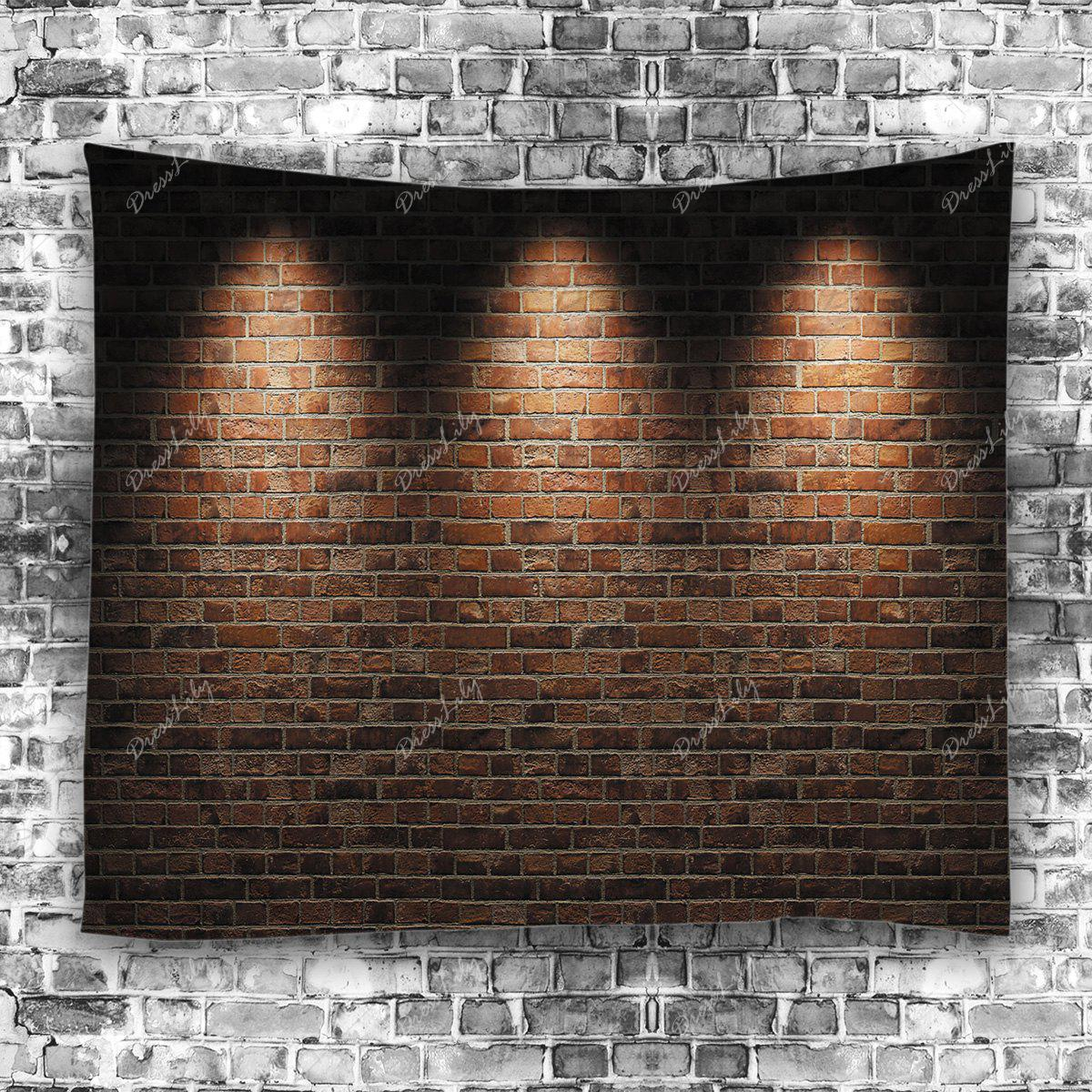2018 wall hanging art light brick wall print tapestry - Lights to hang on wall ...