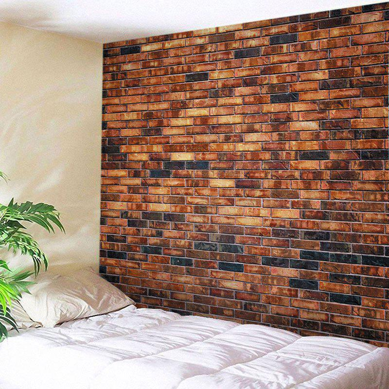 Brick Wall Print Tapestry Wall Hangings Art Decor - BRICK RED W79 INCH * L59 INCH