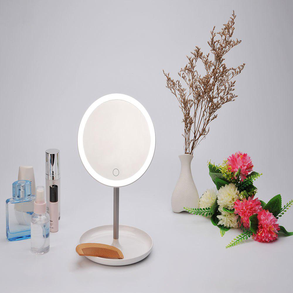 USB Charging Make Up Lampe miroir de stockage - Blanc