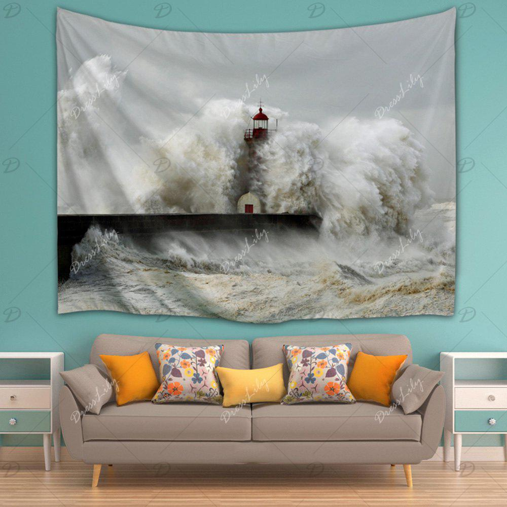 2018 Billowy Wave Wall Hanging Bedroom Decor Tapestry Gray