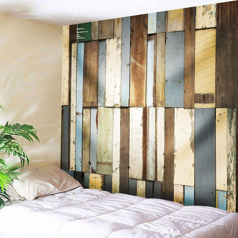 Retro Wood Board Throw Wall Tapestry - COLORMIX W71 INCH * L91 INCH