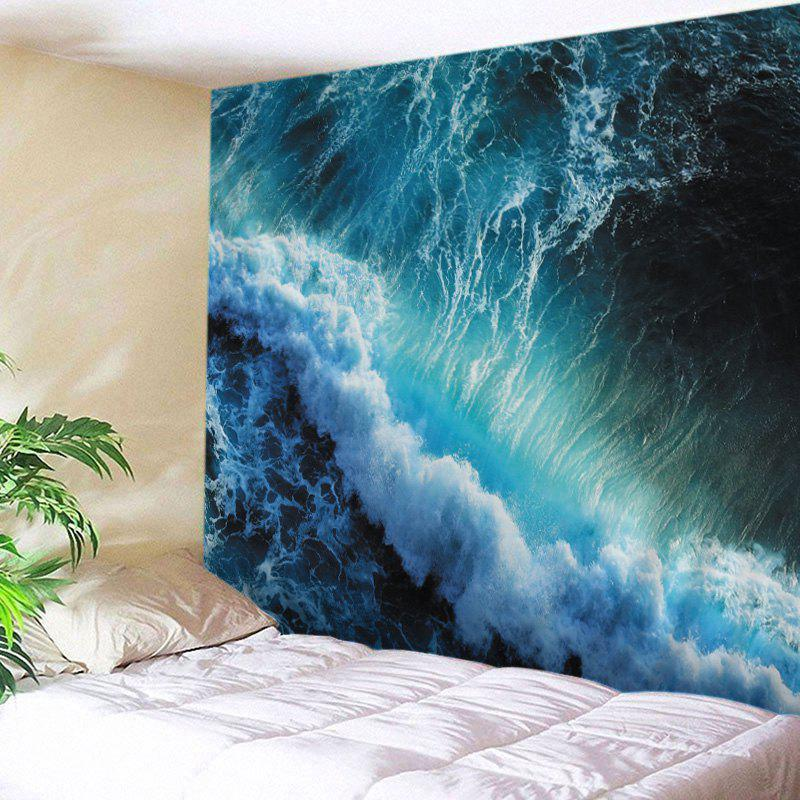 Wall Hanging Art Ocean Wave Print Tapestry Ocean Blue W