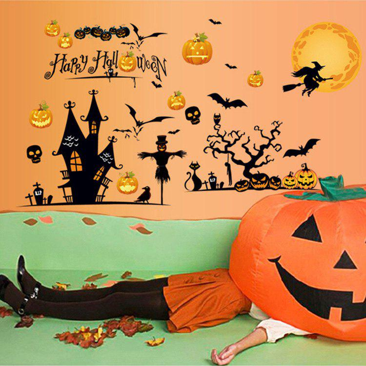 Halloween Decoration Removable Wall Sticker - COLORMIX 60*90CM